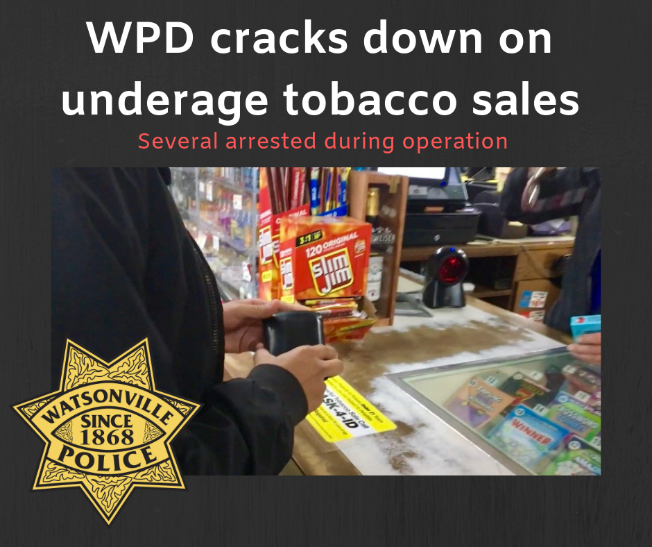 WPD cracks down on underage tobacco sales