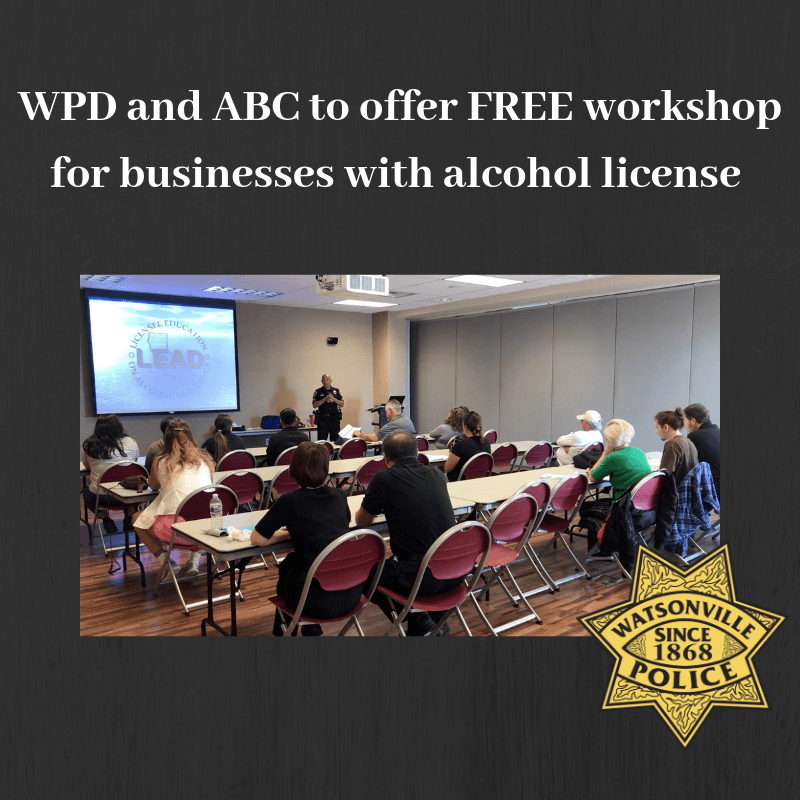 WPD and ABC to offer FREE workshop for businesses with alcohol license