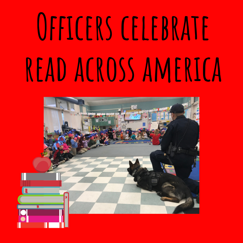 Officers celebrate read across america
