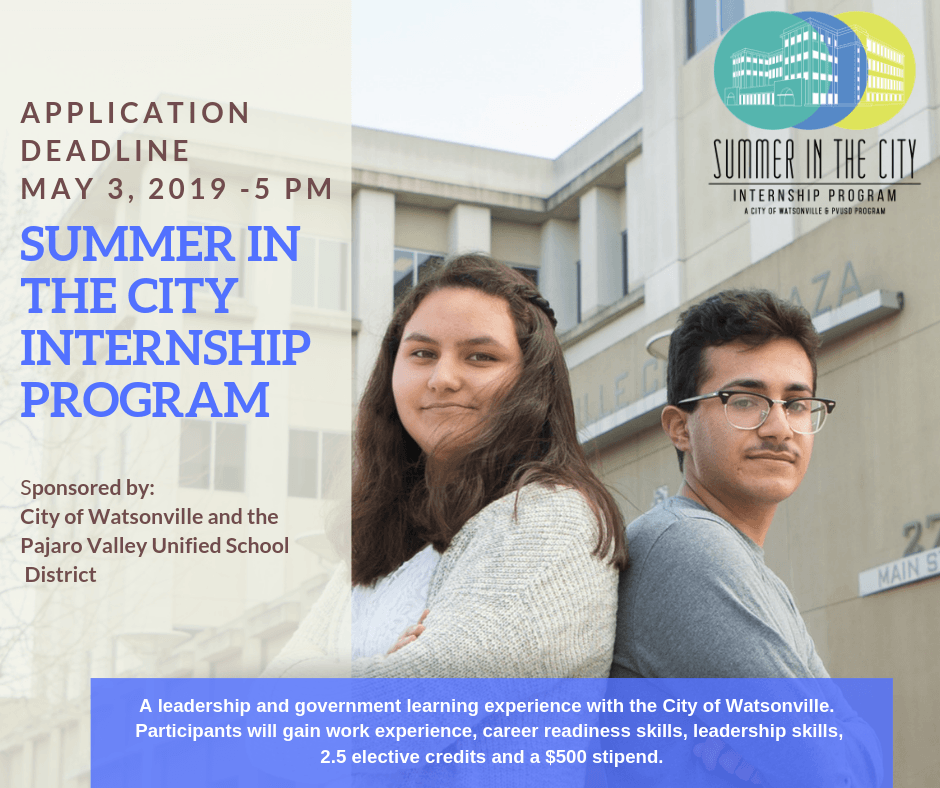 Summer in the city internship program - Facebook Post
