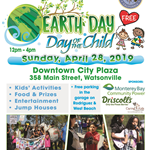 Earth Day/Day of the Child Flyer with all information about the event