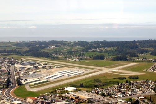 Aerial View of Watsonville Municipal Airport