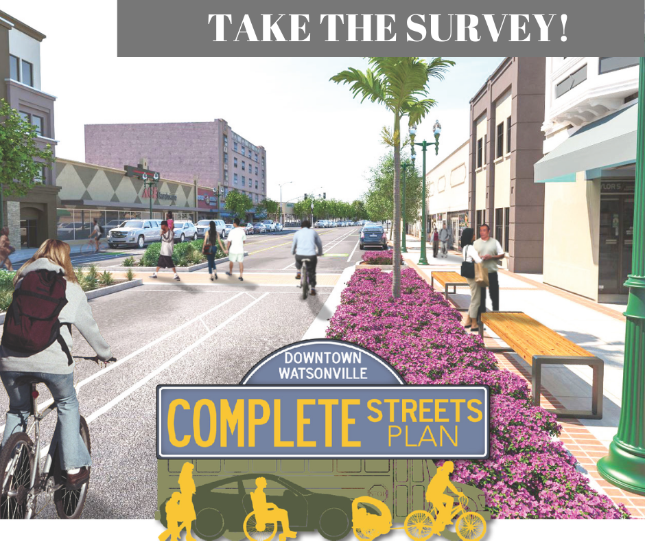 photo of bicyclist on what Main Street could look like