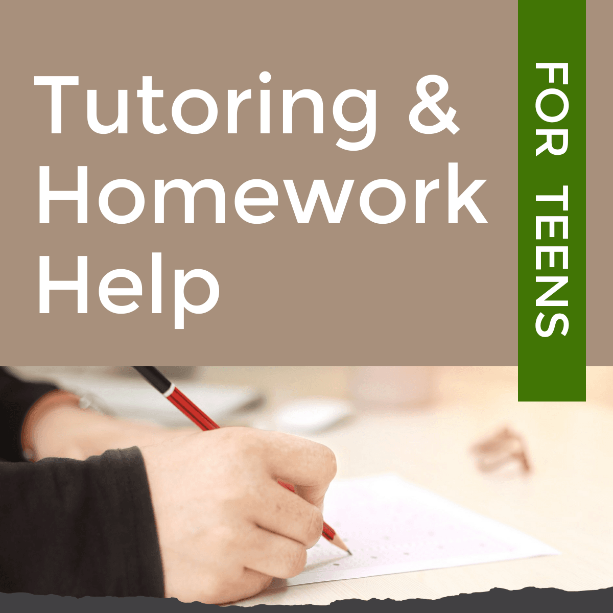 tutoring and homework help for teens