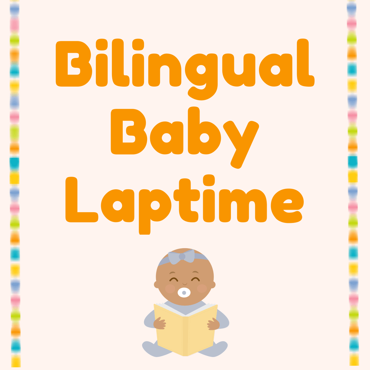 Bilingual Baby Laptime access the storytime on zoom  image of two women reading books to critters