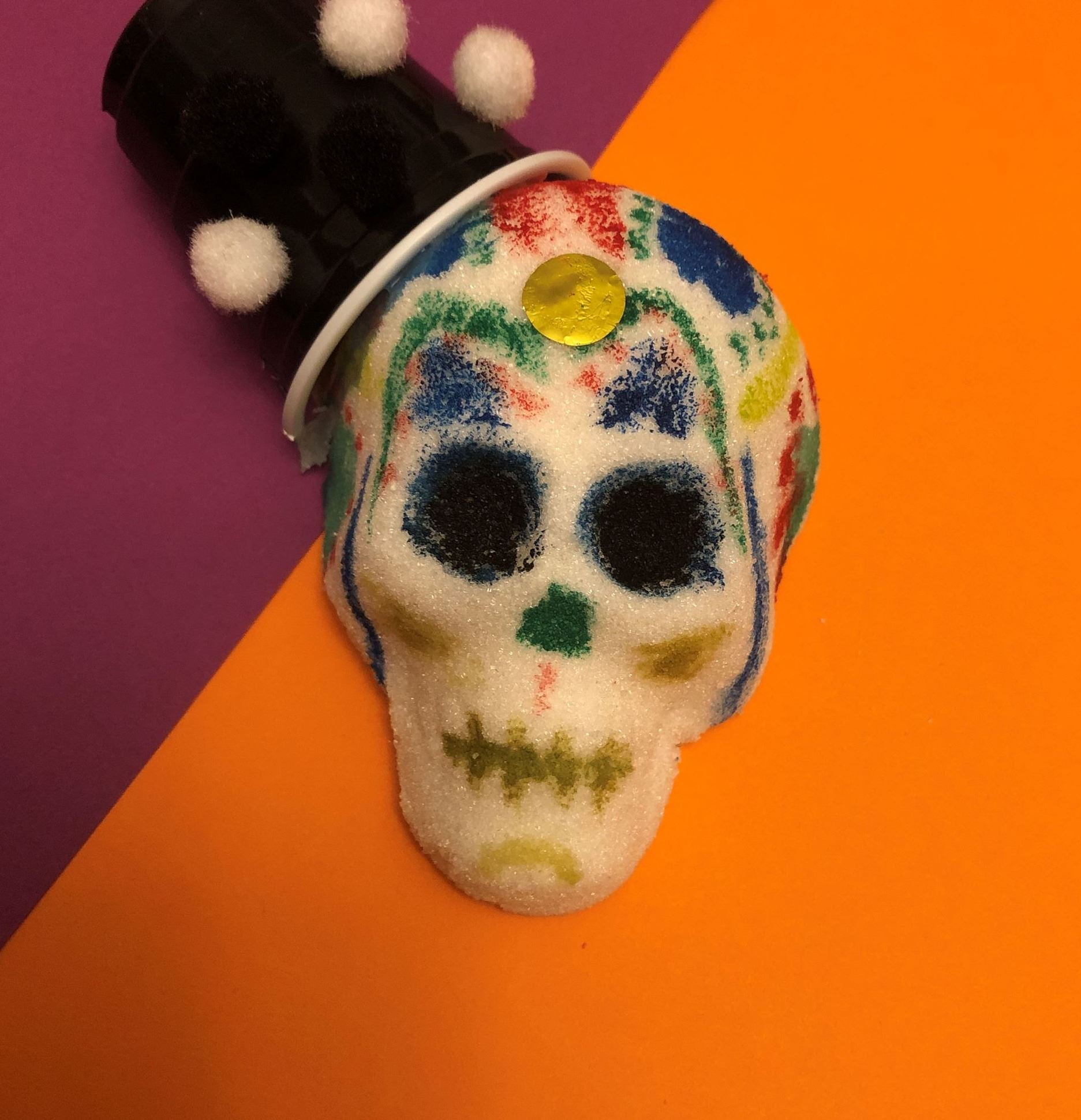 a decorated sugar skull