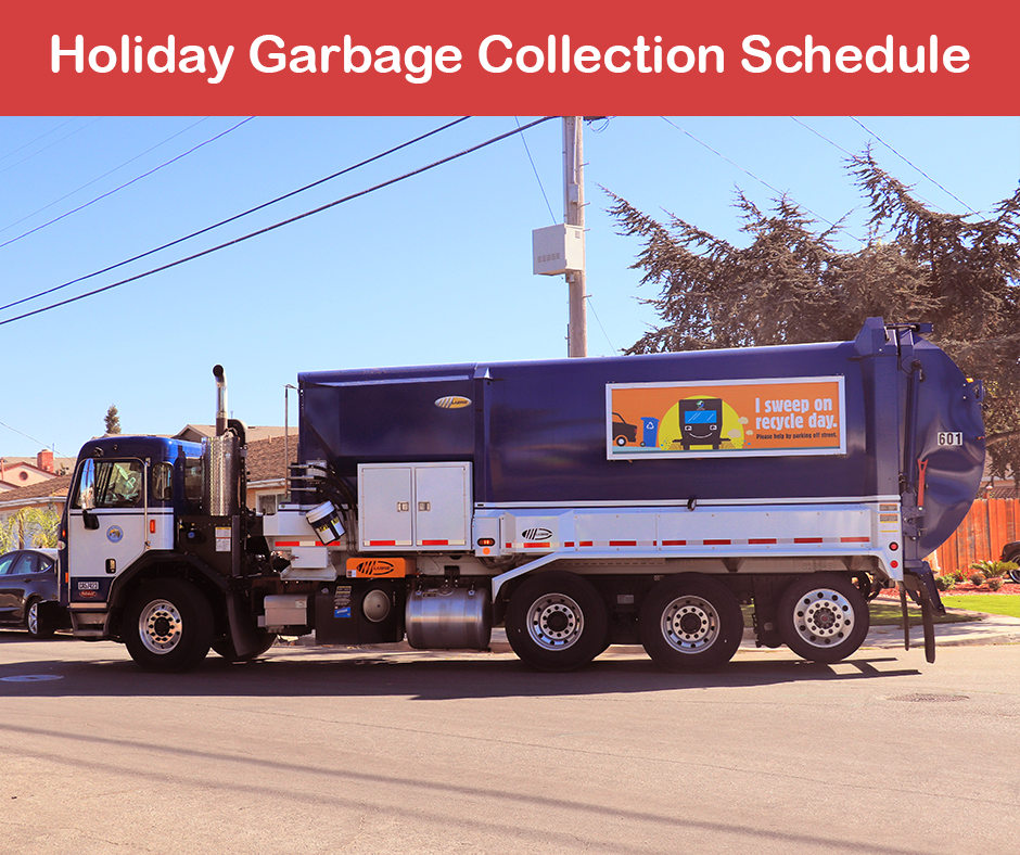 Holiday garbage collection schedule