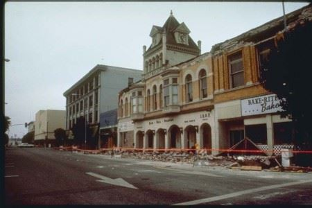 1989 Earthquake Aftermath at the Bake Rite Bakery