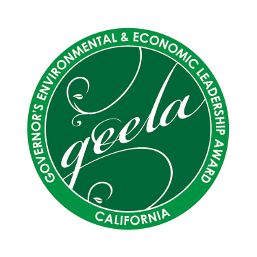 Geela: Govenor's Environemntal & Economic Leadership Award seal