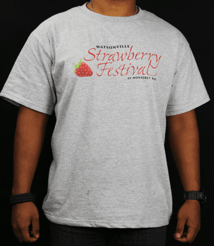Strawberry Festival gray t-shirt