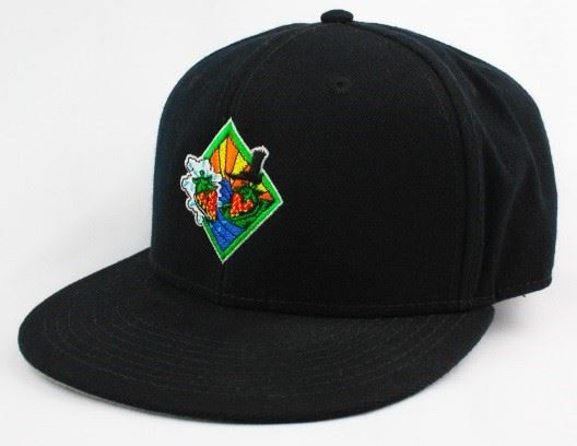 Strawberry Festival logo black hat