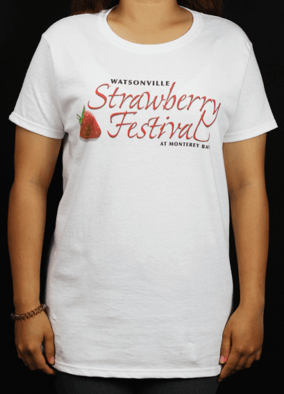 Strawberry Festival white shirt