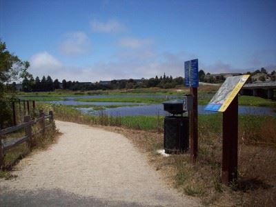 Entrance to Wetlands Trails path