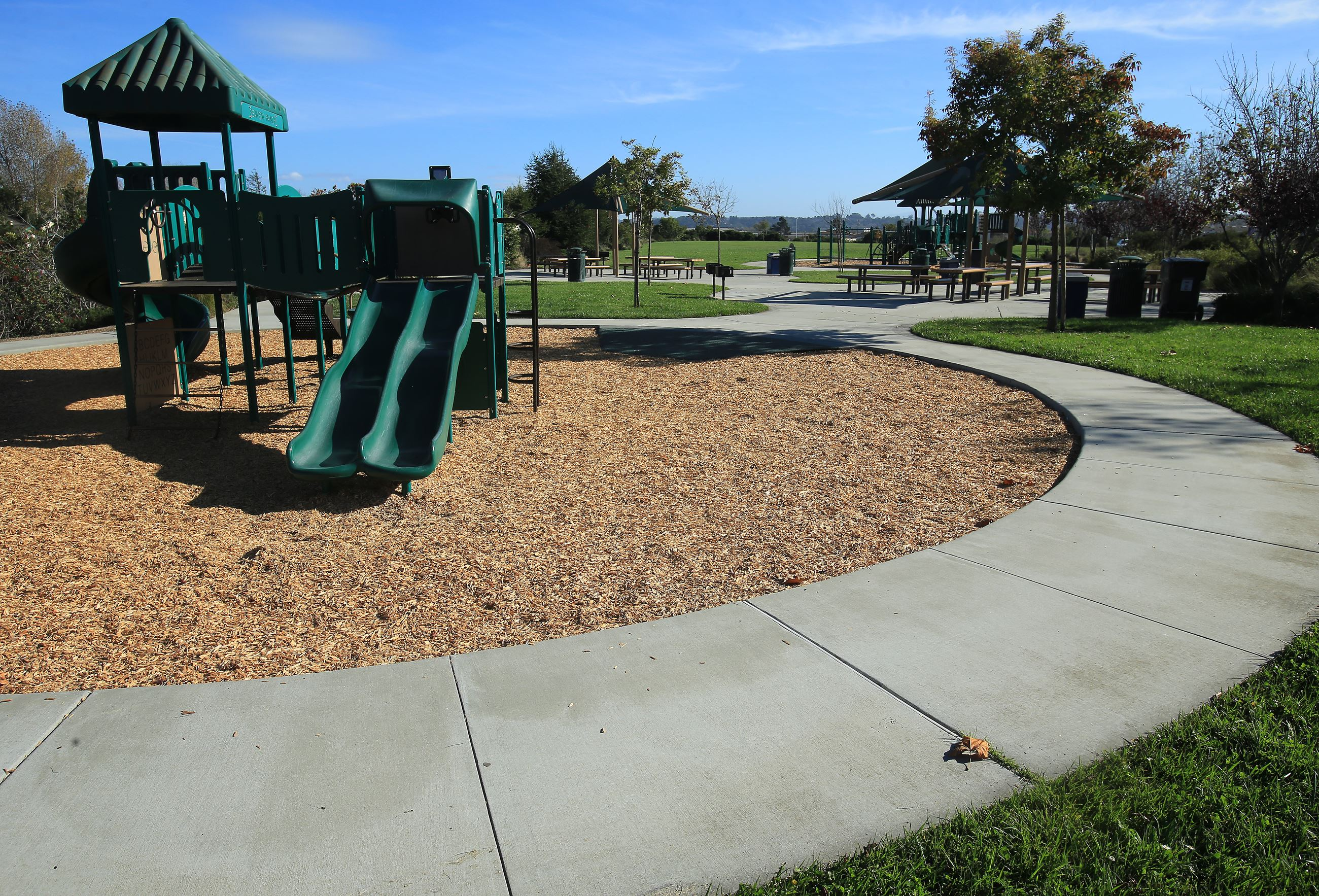 Sea View park playground structure and paths