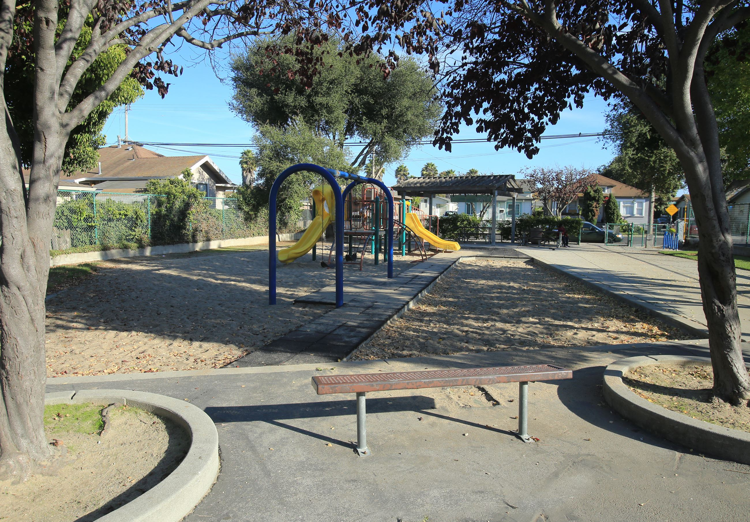 Kearney park playground with sand