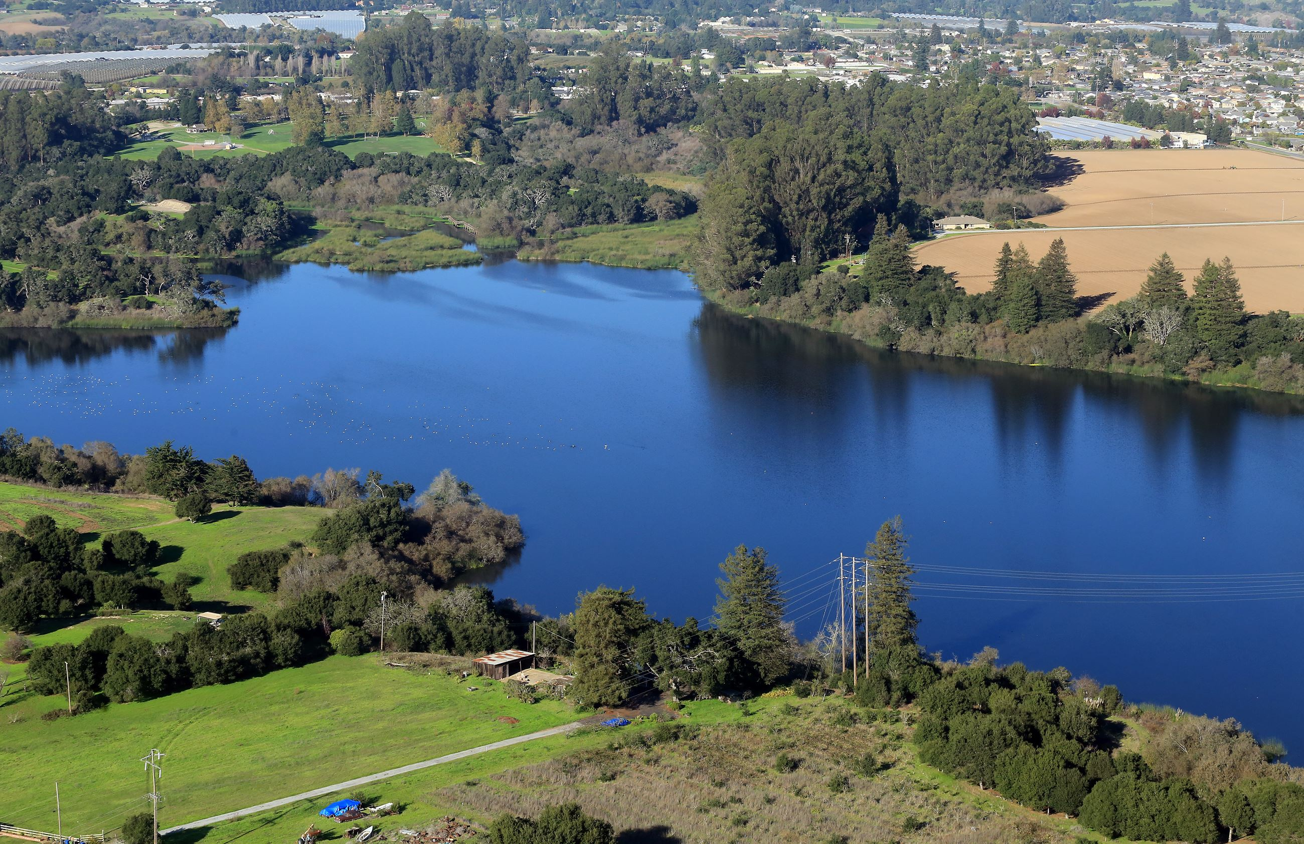 Aeria view of Pinto Lake