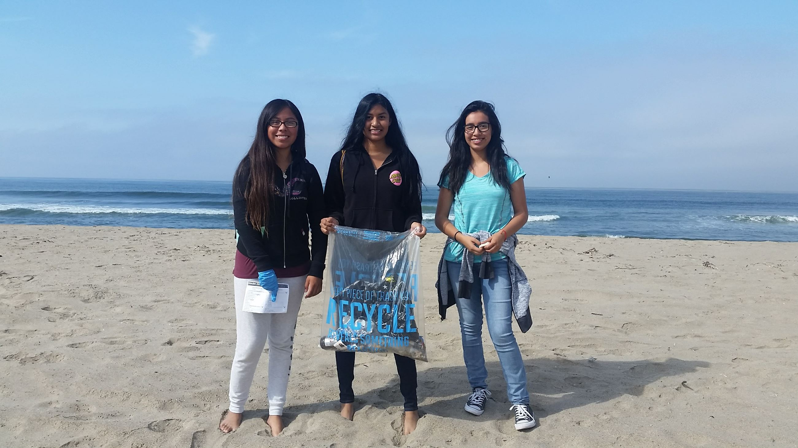 Watsonville High School students remove balloon waste, Palm Beach