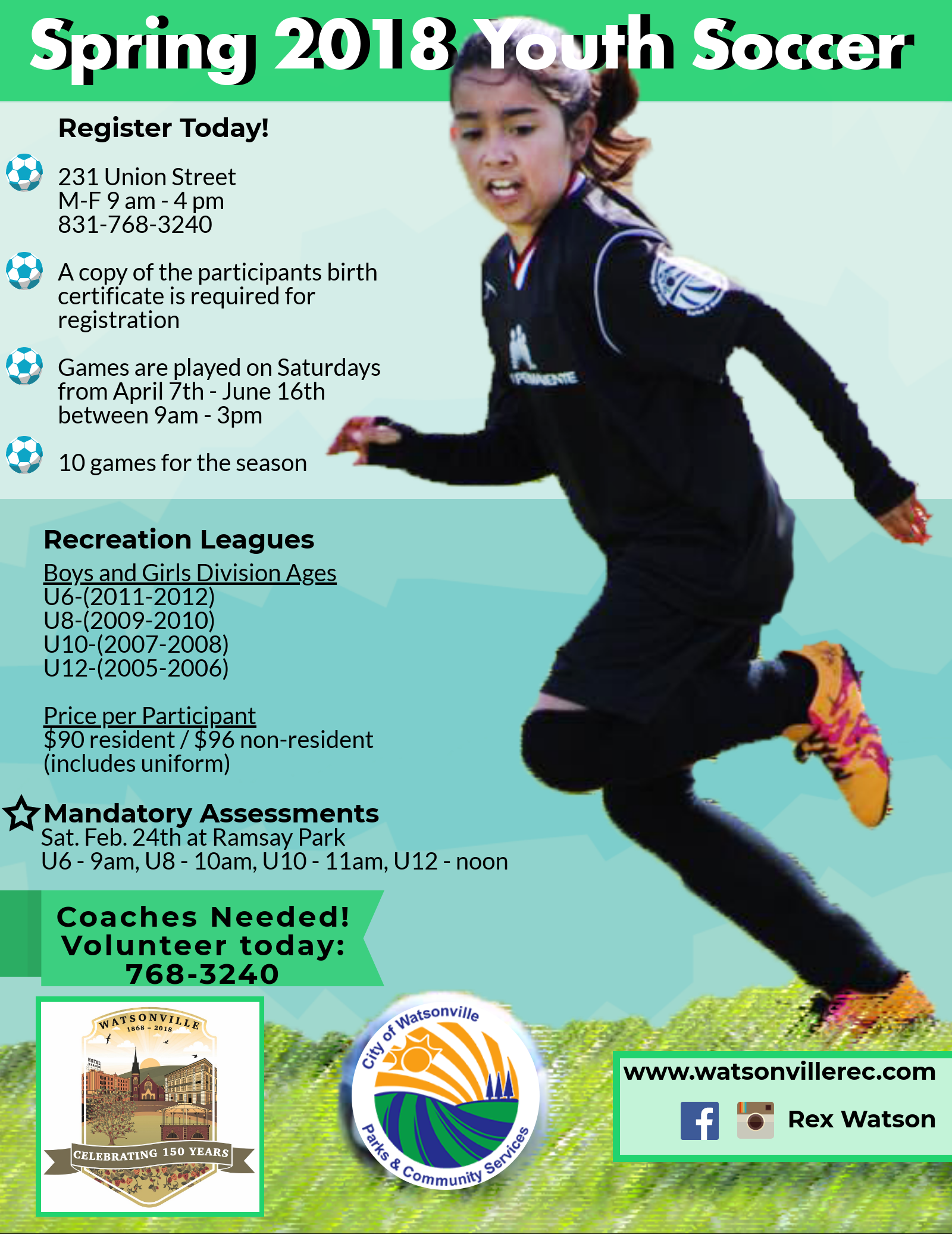 Spring 2018 Youth Soccer English