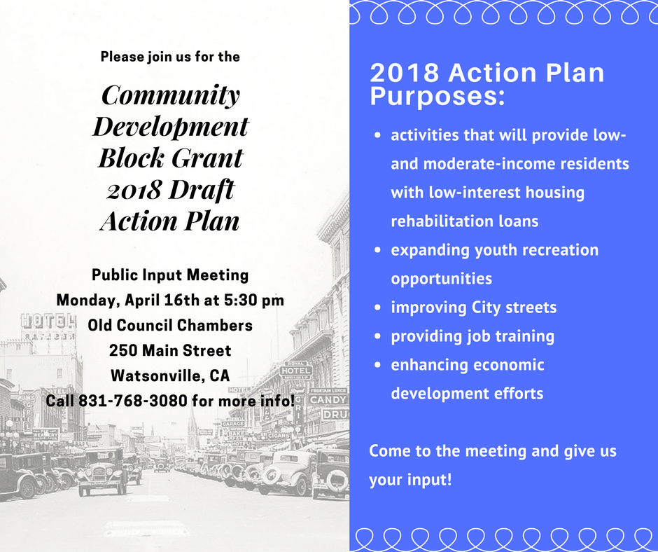 Community Development Block Grant 2018 Action Plan