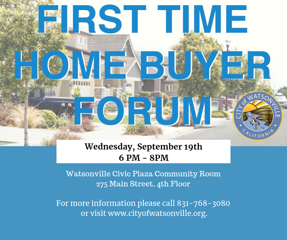 first time home buyer forum 9.19.18