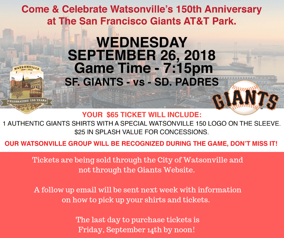 f79b6e63f Come   Celebrate Watsonville s 150th Anniversary at the Giants Game