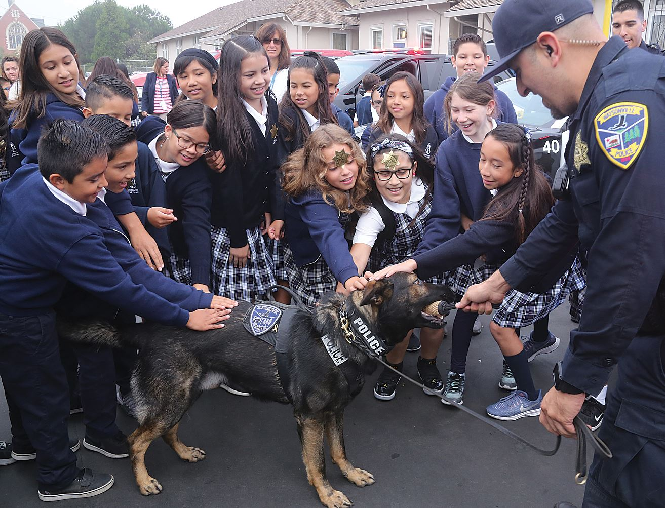 K-9 Axel and kids