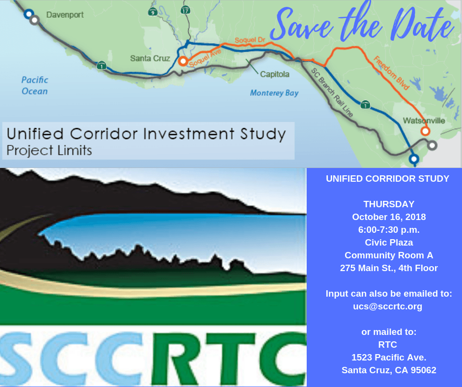 map of corridor study and scrtc logo