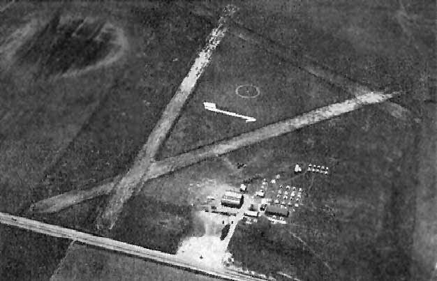 Black and White Picture of Earliest Known Photo of Watsonville Airport (1938)