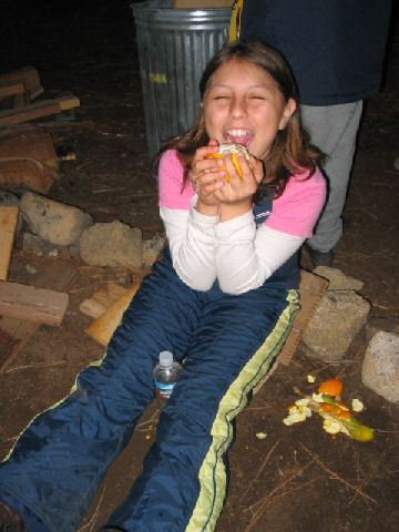 2007 Snow Trip Karla Eating an Orange